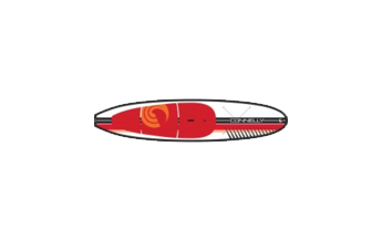 Red and White Kayak